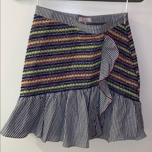 Multi colored Parker matching skirt